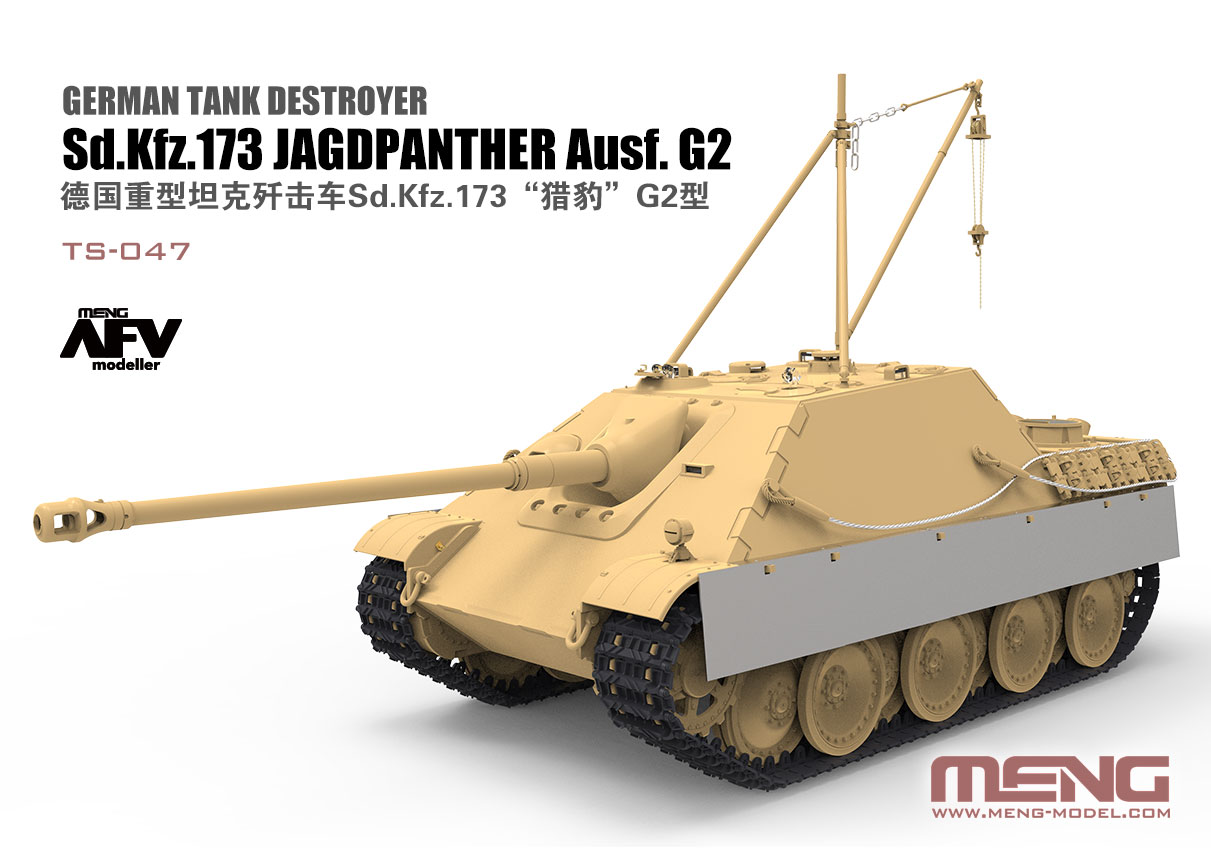 G2 Meng-Model TS-047-1:35 German Tank Destroyer Sd.Kfz.173 Jagdpanther Ausf